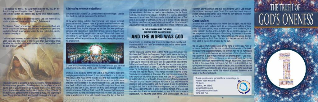 The Truth of God's Oneness Tract